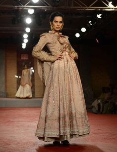 Model in a show themed Draupadi by designer Anju Modi on the first day of the PCJ Delhi Couture Week 2013. #India #Fashion