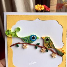 "42 Likes, 12 Comments - Reena Agarwal (@areena_23) on Instagram: ""Never too late for Valentine's.....!! #quilling#quilled#diecuts #birds #valentines #quillingart…"""