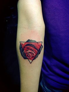 My Rose and Triangle tattoo ...
