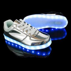 a34e3661fa622 Quality Women Sneakers Reflective Silvery breathable led. Light Up ...