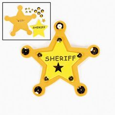 Foam Sheriff Badge Craft Kits (12 Kits)
