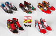 Vans x Marvel// love the avengers his.but where are the wolverine Eras? Avengers Wedding, Marvel Wedding, Wedding Vans, Lego Wedding, Marvel Shoes, Marvel Clothes, Avengers Clothes, Michael Johnson, Mode Geek