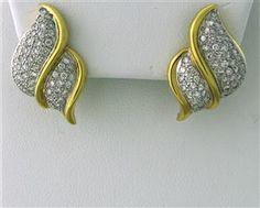 Vintage 18k Gold 2.00ctw Diamond Earrings starting bid $1,000/ July 21 @ hamptonauction.com