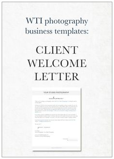 business welcome letter template