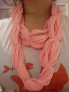 Recycled Tee Circle Scarf