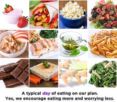 A typical DAY of eating on our healthy nutrition plan. No calorie counting and no