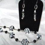 Zebra Print necklace set
