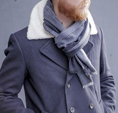 A Blogger Wears Black: Men's Wilton Cashmere Scarf