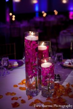 indian wedding reception decor candles http://maharaniweddings.com/gallery/photo/6774