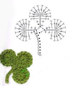 Crochet Flower Patterns Part 1 Crochet Leaf Patterns, Crochet Leaves, Crochet Motifs, Freeform Crochet, Crochet Diagram, Crochet Chart, Crochet Flowers, Mode Crochet, Diy Crochet