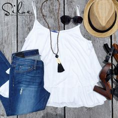 **New Heels Alert** ...and let us warn you, they are to die for! Tassel necklace, fedora, and sunglasses are the perfect summer essentials that can be found here at Siloe. Our new basic must-have is this white tank that looks fabulous by itself and would also double as another outfit with an added kimono or blazer. ;) Call to Order and Receive #FREESHIPPING! -Batesville (870.612.4925) -Searcy (501.230.5902)  #ShopSiloe #NewArrival #Fedora #Sunglasses #TasselNecklace #Accessories #Tank…