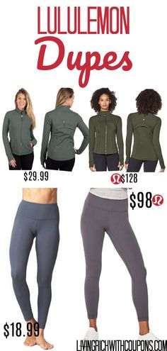 fe3627b77be75 How to Save Money · Love LuluLemon but not the price? Look no further.  These LuluLemon dupes will shock