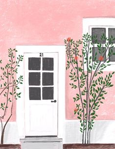 Whimsical and playful contemporary illustration by Patti Blau. Colorful images includes home life, food, fashion and travel. House Illustration, Watercolor Illustration, Watercolor Art, Watercolor Paintings For Beginners, Simple Paintings For Beginners, Posca Marker, Guache, Diy Canvas Art, Gouache Painting