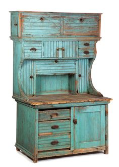 AMERICAN KITCHEN CUPBOARD. Late 19th-early 20th c