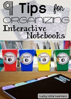 Some AWESOME tips for organizing your Interactive Notebooks and some great freebies too from Lucky Little Learners!