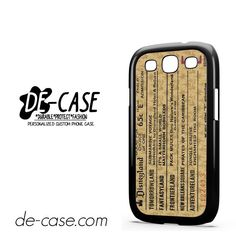 Classic Disneyland Ticket DEAL-2698 Samsung Phonecase Cover For Samsung Galaxy S3 / S3 Mini