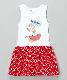 Look at this #zulilyfind! Red Cheerleader Tank Dress - Infant, Toddler & Girls #zulilyfinds