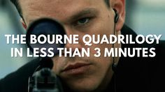 The First Four Jason Bourne Films in Three Minutes