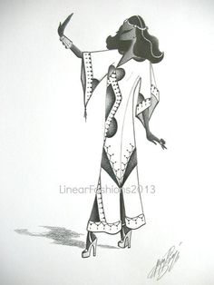 Women In Dashiki Illustration