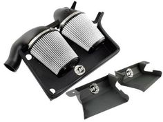 aFe Stage 2 Cold Air Intake Pro Dry S W/Scoops for 07-12 BMW 335i