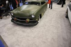 One of the many custom car displays at SEMA 2012