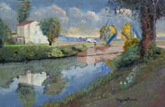 Jacques PEYRELEVADE  Arles, Pont Langlois (Pont Van Gogh) Oeuvre D'art, Van Gogh, Les Oeuvres, Provence, Contemporary Art, Painting, Atelier, Radiation Exposure, Impressionism