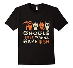 Men's Ghouls Just Wanna Have Fun T-Shirt Medium Black FSG…