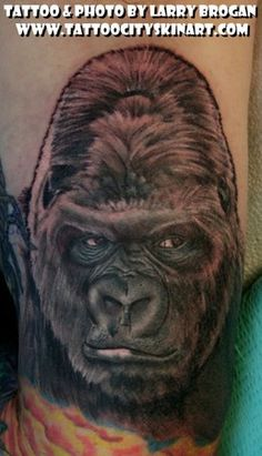 gorilla tattoos | Paradise Tattoo Gathering : Tattoos : Larry Brogan  (Idea for hubby's tattoo)
