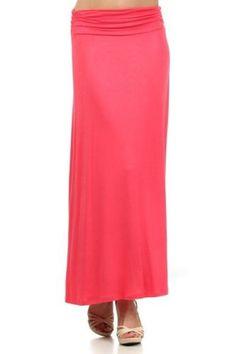 Plain Colors Draped JERSEY MAXI LONG SKIRT Banded Waist Full Length Long Dress