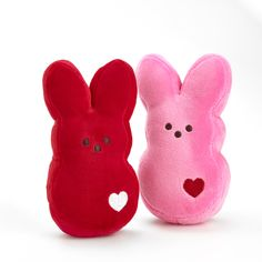 PEEPS® Plush Bunnies are so sweet; they make your Valentine's heart skip a beat.