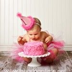 For her 1st bday photo shoot