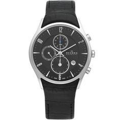 Skagen - Black Dial Mens Chronograph Watch - 329XLSLB