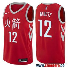 Houston Rockets  12 Luc Mbah a Moute Red Nike NBA Men s Stitched Swingman  Jersey City 918b3d7cf