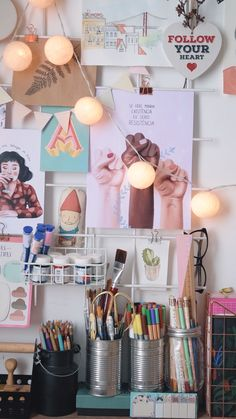 Atelier Home Office Diy Bedroom Decor For Teens, Teen Bedroom Designs, Room Decor Bedroom, Study Room Decor, Cute Room Decor, Girl Decor, Pastel Home Decor, White Home Decor, Cubicle Makeover