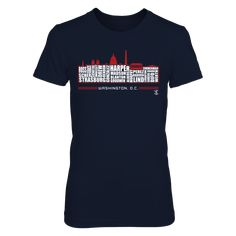 Bryce Harper - Washington D.C. Skyline T-Shirt, Represent your favorite team with this officially licensed gear!  The Bryce Harper Collection, OFFICIAL MERCHANDISE  Available Products:          District Women's Premium T-Shirt - $29.95 District Men's Premium T-Shirt - $27.95 Gildan Unisex T-Shirt - $24.95 Gildan Women's T-Shirt - $26.95 Gildan Unisex Pullover Hoodie - $44.95 Next Level Women's Premium Racerback Tank - $29.95 Gildan Long-Sleeve T-Shirt - $33.95 Gildan Fleece Crew - $39.95…