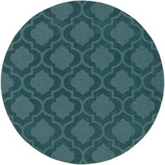Central Park Kate Teal (Blue) 9 ft. 9 in. x 9 ft. 9 in. Round Indoor Area Rug