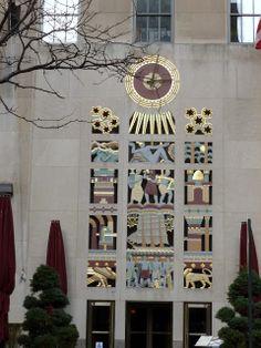 Art Deco Relief: The History Of Man - by Lee Oscar Lawrie. International Building, Rockefeller Center, NY, NY