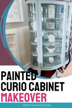 Painted Curio Cabinets, Painting Cabinets, My Furniture, Furniture Makeover, Diy Porch, Diy Home Decor Projects, Decor Ideas, Décor Boho, Cabinet Makeover