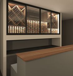 VintageKeeping Glass Wine Cellar, Wine Glass, Caves, Wine Rack, Facade, Divider, Shelves, Room, House