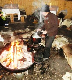 Chef preparing salmon soup at tepee restaurant. Salmon Soup, Scandinavian Food, Classical Music, The World's Greatest, Finland, Norway, Sweden, National Parks, Restaurant