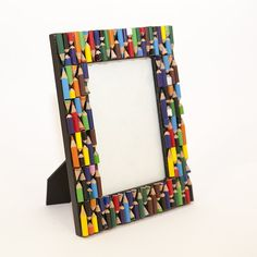 Amazon.com - Photo Frame - Recycled Pencils - Hand Crafted Frame by Simply Natural Bliss - 7x5 in - Unique Picture Frame for Horizontal or Vertical Pictures - Great for Kids and Families - Recycled Materials -