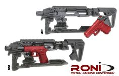 Roni pistol carbine conversion This is too much..but cool at the same time :p