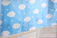 Cotton Cloud Fabric Curious Clouds White Clouds on by landofoh, $9.60