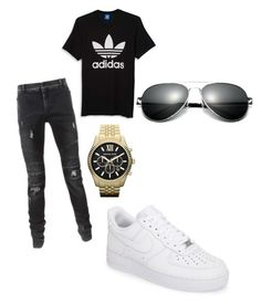"""Untitled #2"" by jcordoba on Polyvore featuring adidas, Balmain, NIKE, Michael Kors, men's fashion and menswear"