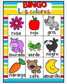 Juego bingo de los colores para aprender los colores Spanish Activities, Color Activities, Toddler Activities, Montessori Toddler, Toddler Art, Autumn Theme, Games For Kids, Kid Games, Kindergarten
