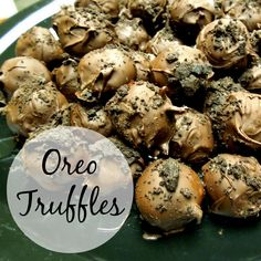 super easy oreo chocolate truffle recipe! perfect dessert for a christmas party. only 3 ingredients.