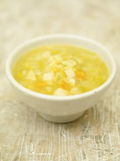 Leek and Potato Soup with chunky carrot and celery from Jamie Oliver   Full recipe