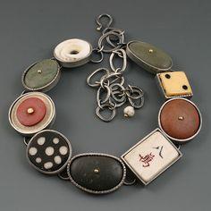 Kristi Zevenbergen, Collection #11, Sterling, 18k, found objects