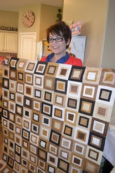 Love the contemporary look of this quilt - love the browns