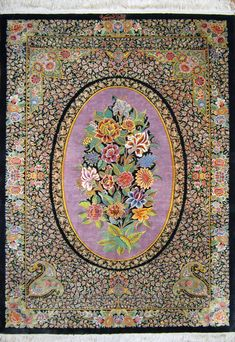 Qum Silk Persian Rug | Exclusive collection of rugs and tableau rugs - Treasure Gallery You pay: $4,900.00 Retail Price: $8,900.00 You Save: 45% ($4,000.00) Item#: CS-Q10 Category: Small(3x5-5x8) Persian Rugs Design: Flower Medallion Size: 100 x 150 (cm) 3' 3 x 4' 11 (ft) Origin: Persian, Qum (Qom) Foundation: Silk Material: Silk Weave: 100% Hand Woven Age: Brand New KPSI: 800